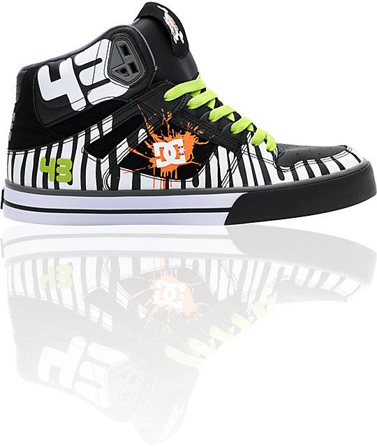 DC Spartan Hi Ken Block Black & White Shoes