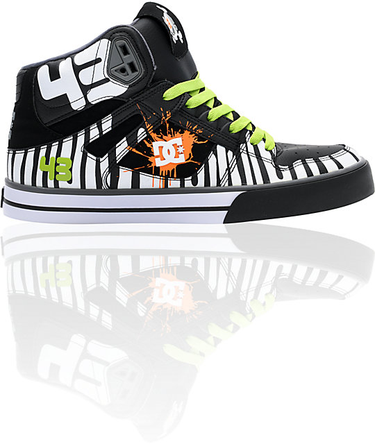 dc spartan hi ken block black white shoes. Black Bedroom Furniture Sets. Home Design Ideas