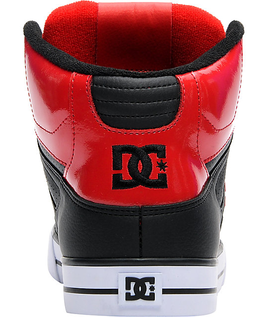 DC Spartan Hi Red & Black Shoes
