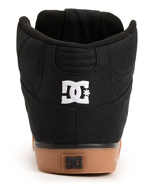 DC Spartan Hi TX Black & Gum Skate Shoes