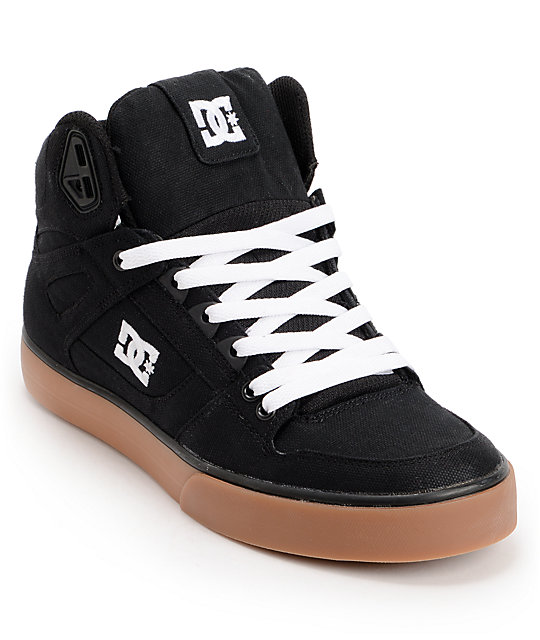 dc spartan hi tx black gum skate shoe at zumiez pdp