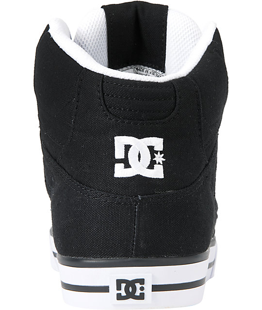 DC Spartan Hi TX Black Canvas Skate Shoes