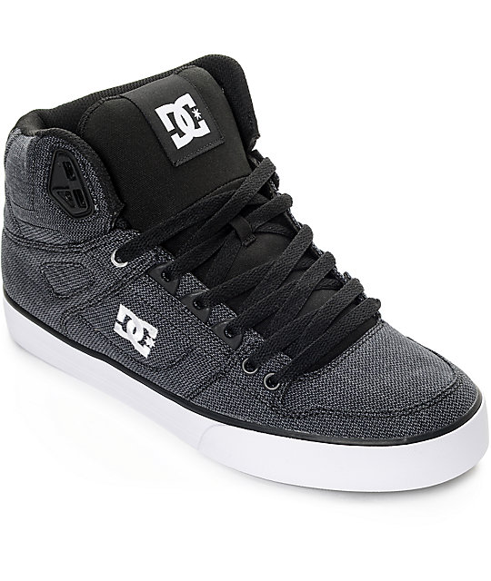 DC Spartan Hi TX SE Black & Dark Used Skate Shoes