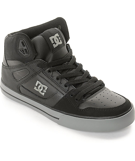 DC Spartan High WC Black & Grey Skate Shoes
