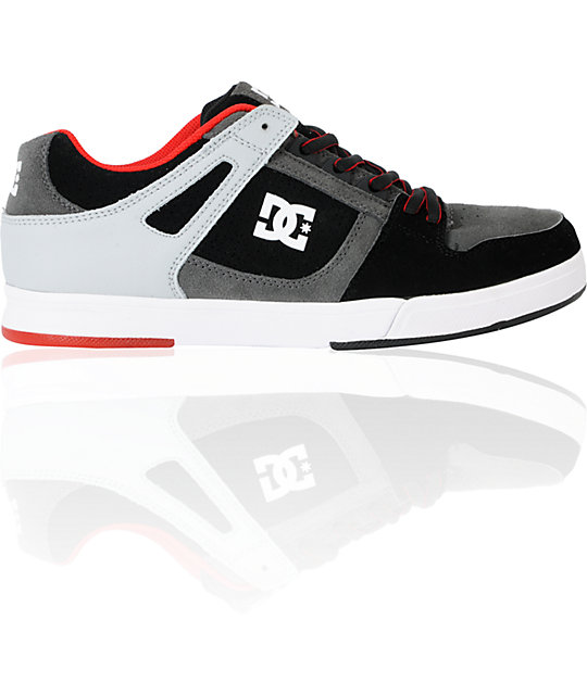 DC Spartan Lite Black, Battleship & Armor Skate Shoes