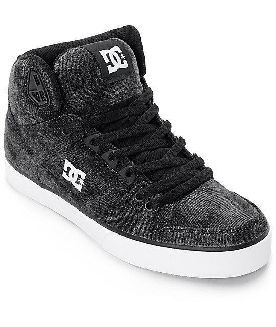 DC Spartan WC TX SE Black Acid High Top Skate Shoes