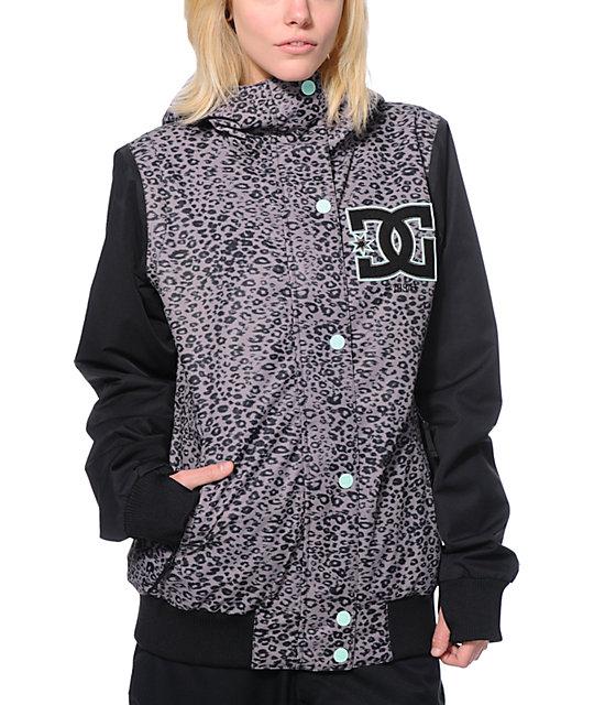 DC Squad Grey Panther Print 10K Snowboard Jacket