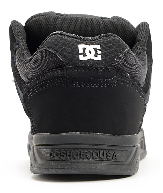 DC Stag Pirate Black, Black, & White Skate Shoes