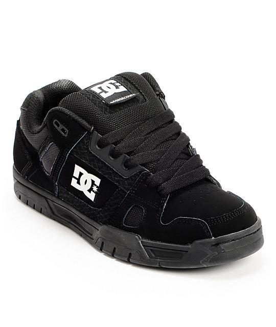 DC Stag Pirate Black, Black, & White Skate Shoes