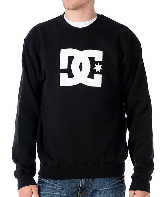 DC Star Black Crew Neck Sweatshirt