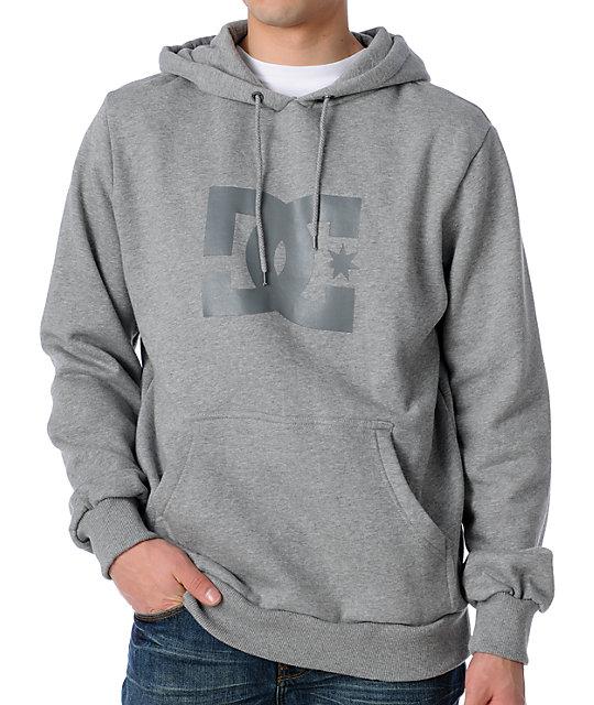 DC Star Grey Pullover Hoodie