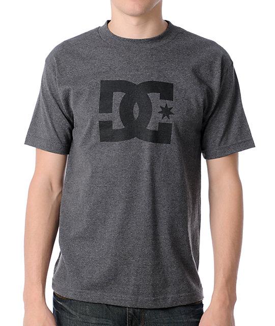 DC Star Heather Black T-Shirt