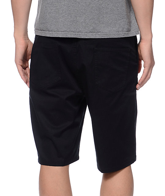 DC Straight Black Chino Shorts