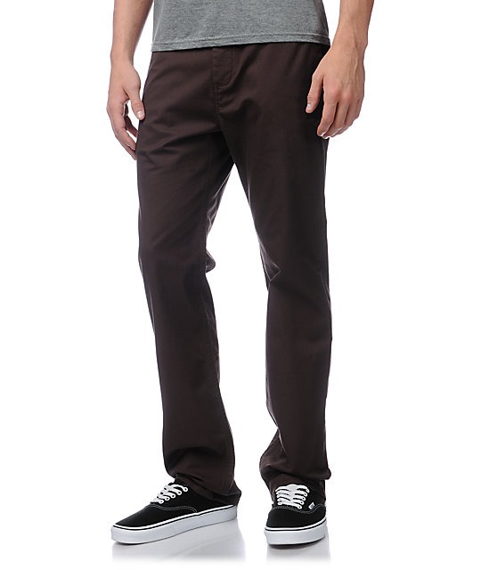 DC Straight Dark Brown Chino Pants