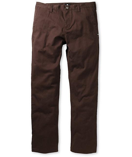 DC Straight Dark Brown Chino Pants