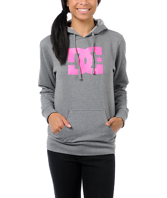 DC T-Star Heather Grey Pullover Hoodie