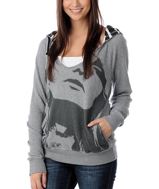 DC Tiff Grey Pullover Boyfriend Hoodie