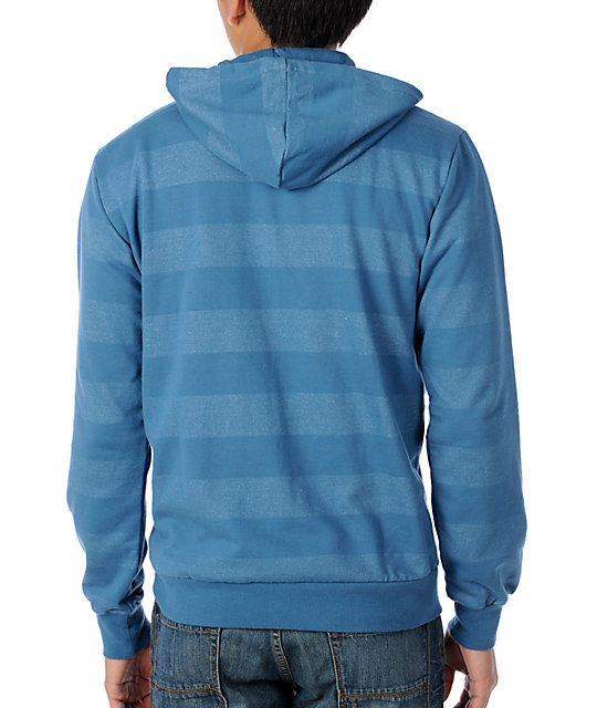 DC Timing Blue Stripe Zip Up Hoodie