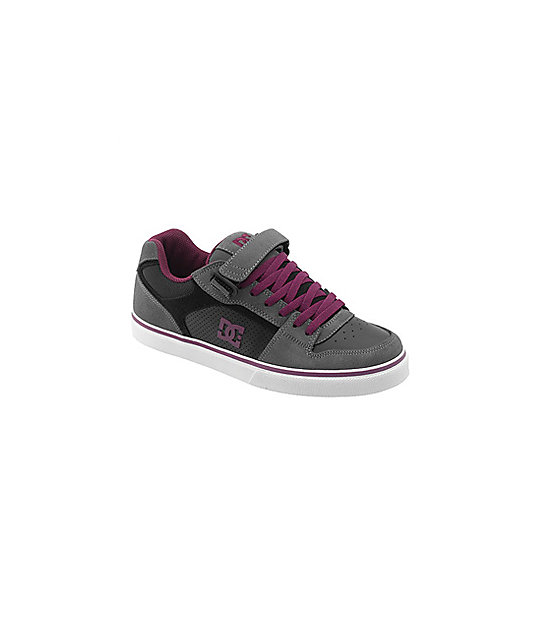 DC Tribe Black, Grey & Purple Shoes