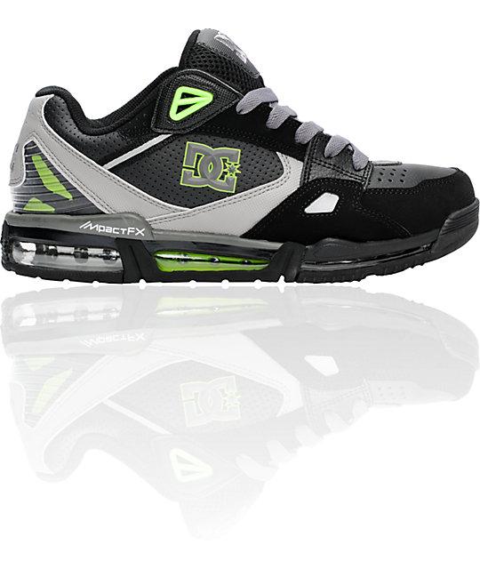 DC Versaflex Black & Soft Lime Shoes