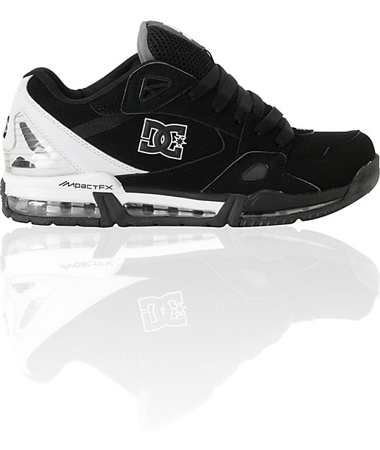 DC Versaflex Black & White Skate Shoes
