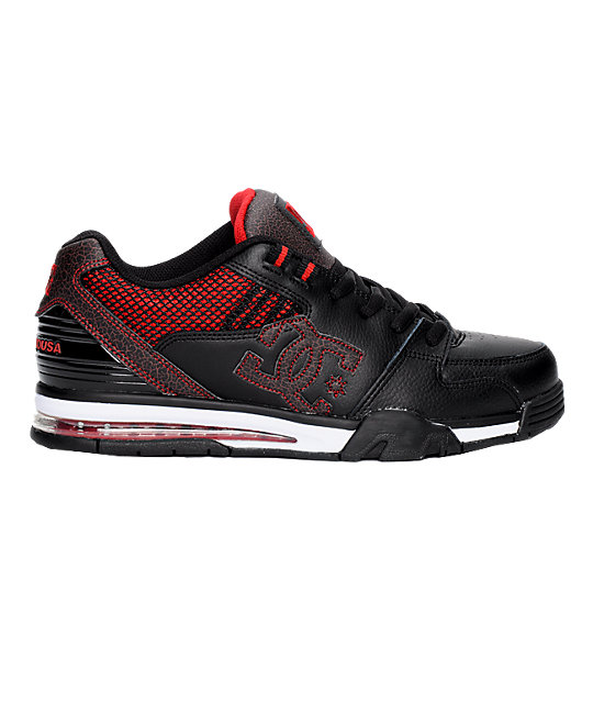 DC Versatile Black & Red Shoes