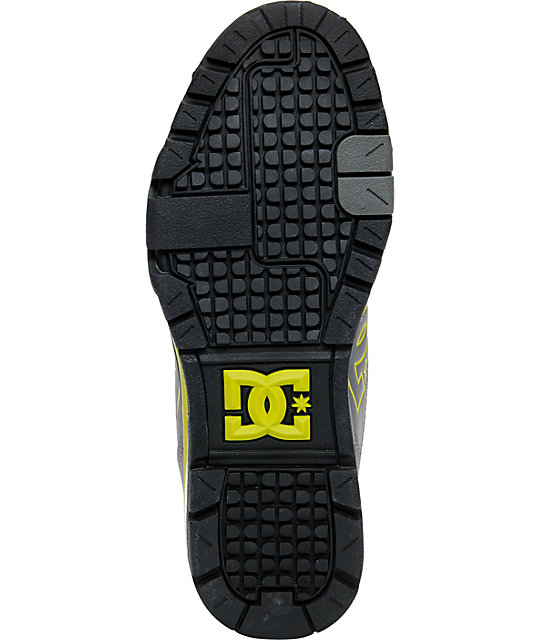 DC Versatile High Grey & Yellow WR Water Resistant Shoes