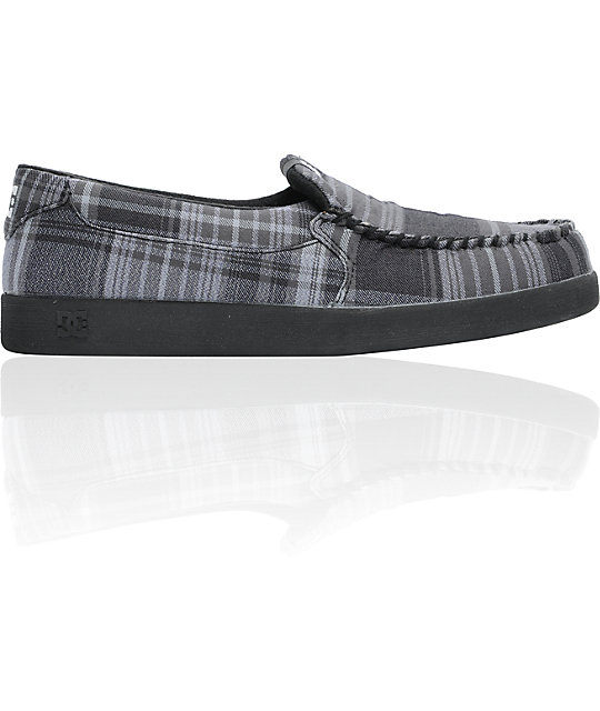 DC Villain Black, Battleship & Plaid Slippers