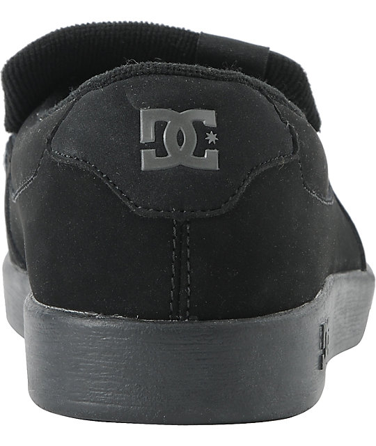 DC Villain Black Monogram Logo Slippers