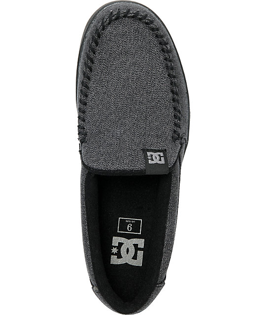 DC Villain TX Black & Battleship Slippers