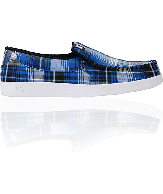 DC Villain TX Blue & White Slippers