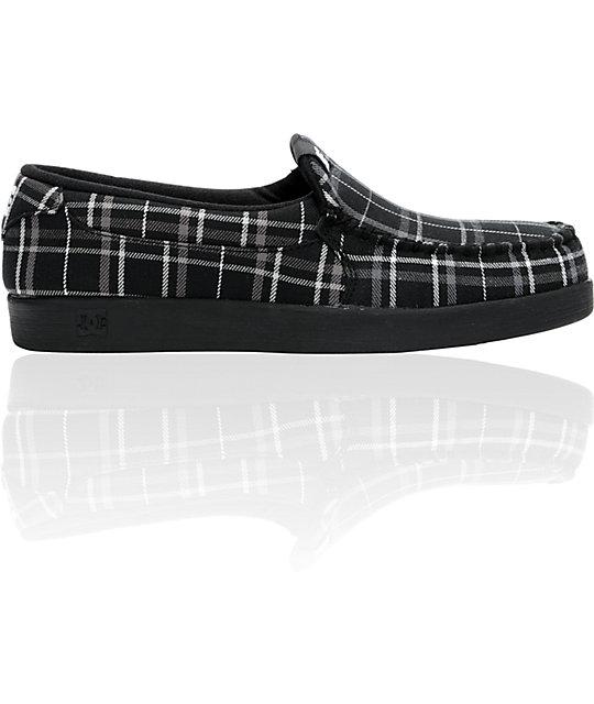 DC Villain Textile Black & White Slippers