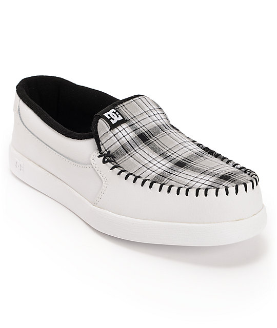 DC Villain White Plaid Slippers