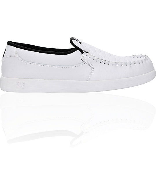 DC Villain White Slippers
