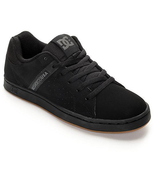 DC Wage Black Skate Shoes