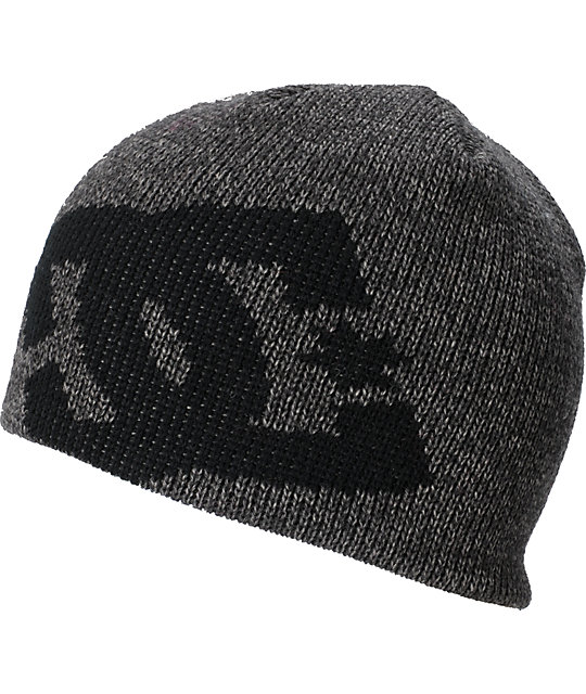DC Wayne Heather Black Beanie