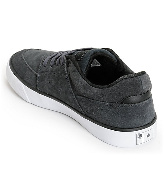 DC Wes Kremer Dark Shadow & White Suede Skate Shoes