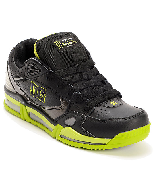 DC x Monster Versaflex Black, Charcoal & Lime Shoes