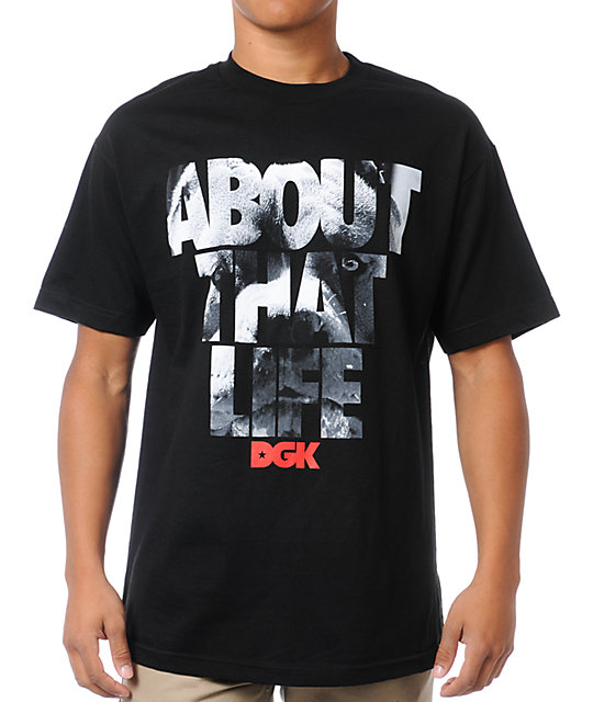 DGK About That Life Black T-Shirt