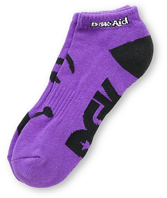 DGK Aid Purple Ankle Socks