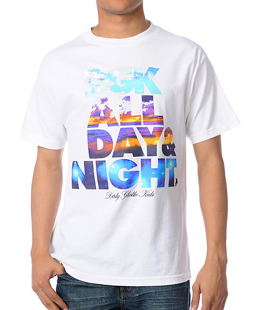 DGK All Day & Night White T-Shirt