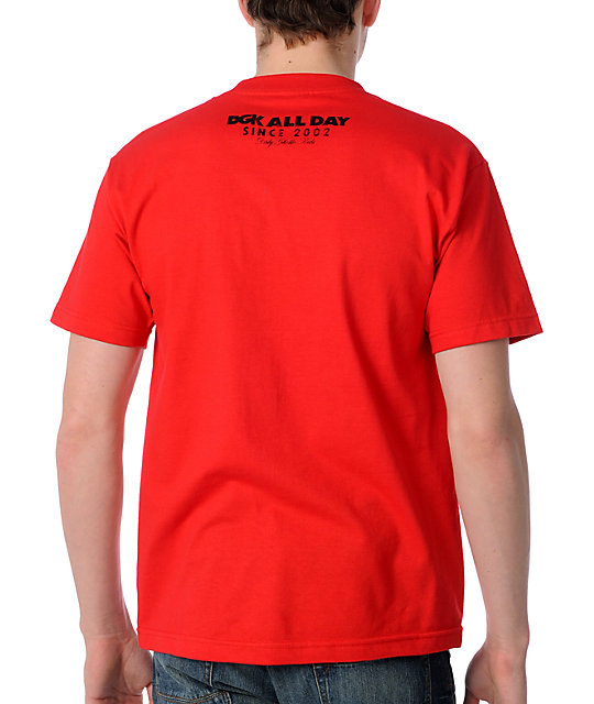 DGK All Day Faded Red T-Shirt
