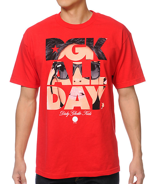 DGK All Day Van Styles Red T-Shirt