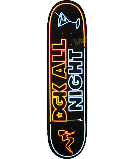 """DGK All Night 7.9""""  Skateboard Deck"""