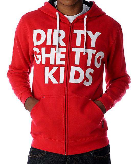 DGK Big Bold Red Hoodie