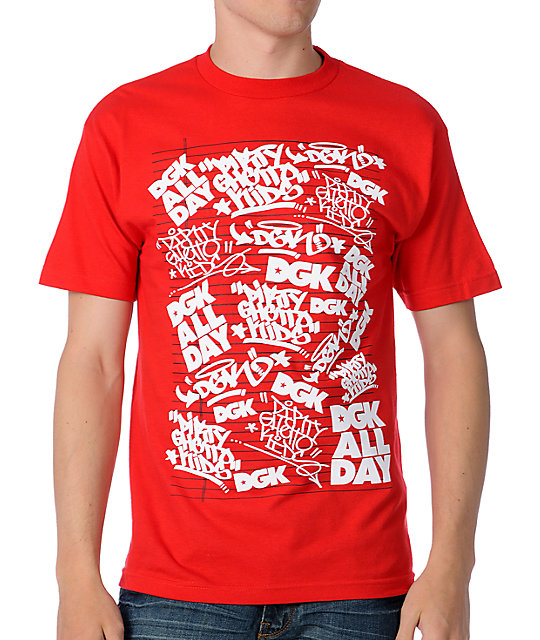 DGK Black Box Red T-Shirt
