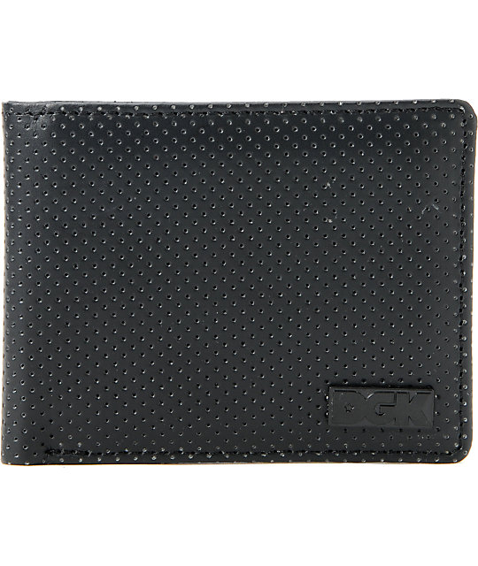 DGK Black Out Perforated Black Bifold Wallet