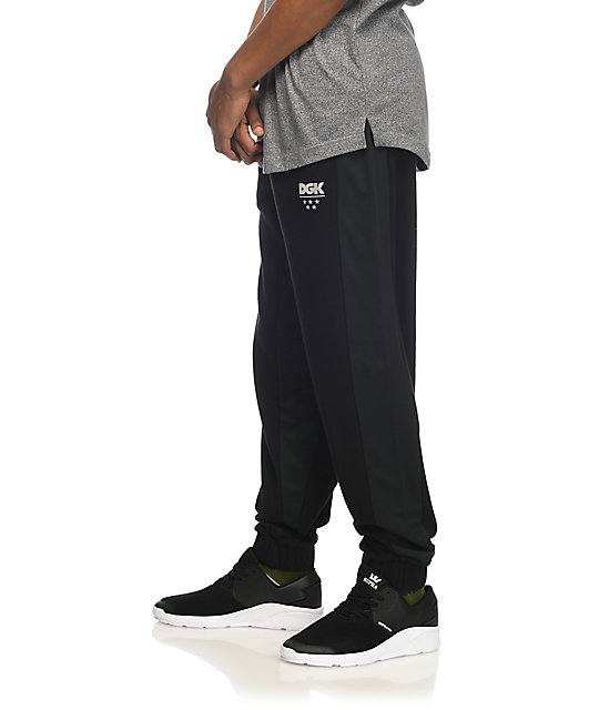 DGK Black Tech Fleece Pants