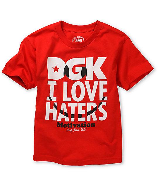 DGK Boys Smiley Red T-Shirt