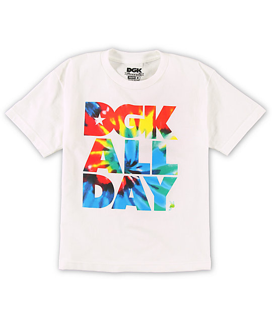 DGK Boys Tie Dye White T-Shirt